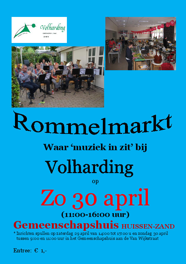 Flyer Rommelmarkt 30 april 2017